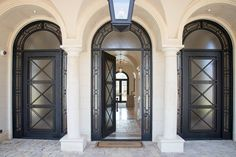 Solara builds custom architectural doors and dream lighting in a range of styles for both indoor and outdoor residential and commercial use and love for years. Custom Lighting, Lighting Design, Gas Lights, Gas And Electric, Iron Doors, Entry Doors, Door Design, Home Goods, Indoor
