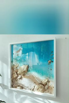 Epoxy Resin Art, Diy Resin Art, Resin Crafts, Diy Epoxy, Resin Artwork, Resin Wall Art, Resin Paintings, Ocean Paintings, 3d Painting