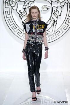 Punk Le style #punk. Défilé de #Versace, collection automne-hiver 2013-2014