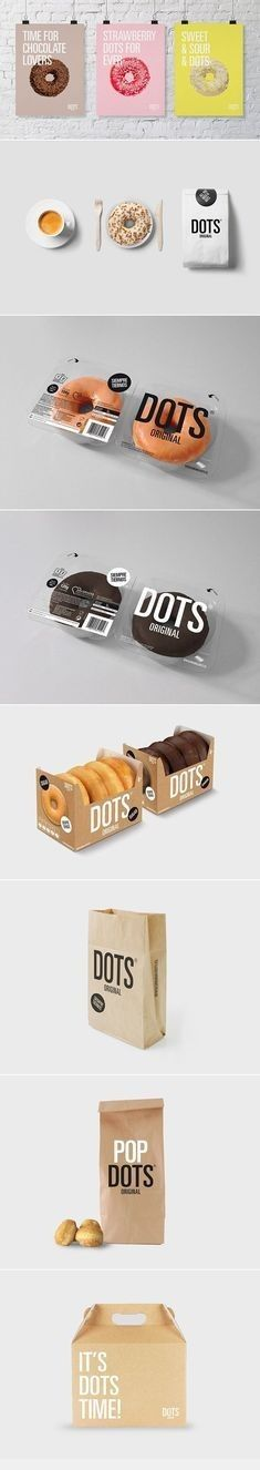 Dots doughnut branding and #packaging design.