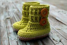 Crochet Pattern baby booties Wellington Baby
