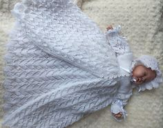 KNITTING PATTERN (INSTRUCTIONS) TO MAKE *TOOTSIE* CHRISTENING GOWN AND ...