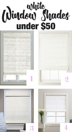 Looking for affordable stylish white window shades? They are hard to find in white. I found a few Roman and Bamboo shades in white. | In My Own Style