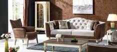 Canapea Extensibila 3 locuri Ligno Brown K1 #homedecor #inspiration #livingroom #decoration #decor #livingroomdecor Sofa, Couch, Living Room Decor, Love Seat, Furniture Design, Brown, Modern, Inspiration, Home Decor