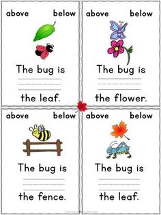 Childrens books with positional words