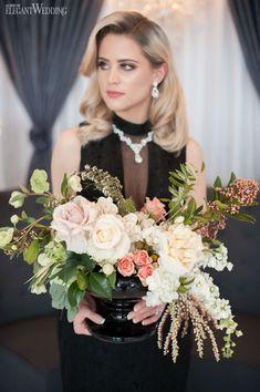 Fresh florals for your sophisticated wedding! GLAMOROUS TEA PARTY WEDDING THEME www.elegantwedding.ca