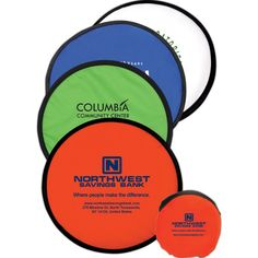 "Collapsible Flyer with Pouch - Collapsible flyer in a handy small 3 3/4"" diameter pouch."