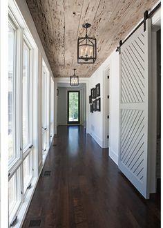 Reclaimed wood, windows, barn door