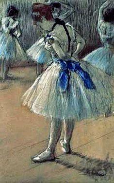 Edgar Degas - Dancer. I love Degas' ballerinas!