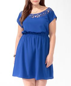 Cutout Neck Dress (Royal). Forever 21. $24.80