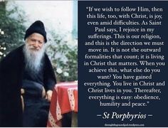 St Porphyrios: Living in Christ Church Quotes, Catholic Quotes, Catholic Prayers, Pray Always, Saint Quotes, Father Quotes, Fun To Be One, Word Of God, Christian Quotes