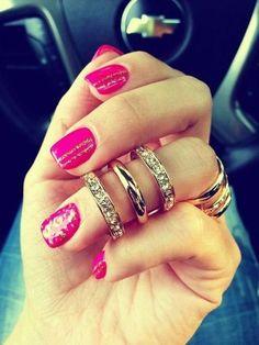 50 Cute Pink Nail Art Designs for Beginners: 2015