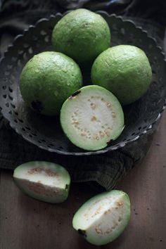 Green Unripe Guavas