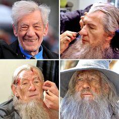 Hollywood Makeup, Hollywood Actor, Tolkien, Ian Mckellen Gandalf, American Horror Story Series, Cultura Nerd, Movie Makeup, O Hobbit, Michael Keaton