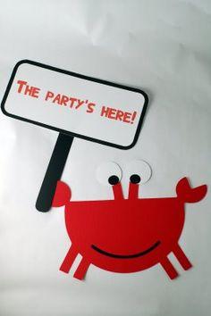 Printable Ocean Party - lovely idea for party invites, especially a boys under the sea theme.