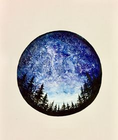 sketch for tattoo, galaxy, watercolor