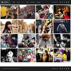 Template 62408 - Soho Photographer  Responsive Website Template