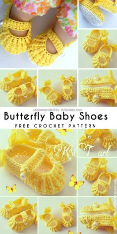 Beautiful design project with final free crochet pattern of baby shoes. You need only mm hook with sports worsted yarn. Booties Crochet, Bag Crochet, Crochet Baby Shoes, Crochet Baby Clothes, Crochet Slippers, Baby Booties, Free Crochet, Crochet Hat For Women, Crochet For Kids