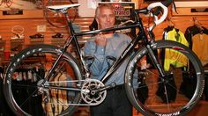 Famous road cyclist greg lemond has his own technique to get saddle height right