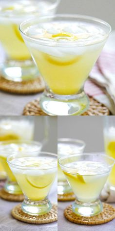 Lemon Drop - easy Lemon Drop martini cocktail recipe made with vodka, lemon juice, triple sec, and sugar. Just mix everything together and your party is on! Party Drinks, Cocktail Drinks, Fun Drinks, Healthy Drinks, Cocktail Recipes, Vodka Cocktails, Drink Recipes, Beverages, Party Shots