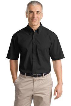 Port Authority® Short Sleeve Value Poplin Shirt. S633 * $20.98