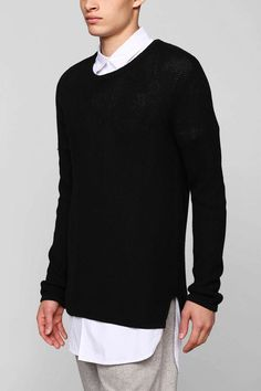 Your Neighbors Open-Knit Pullover Sweater