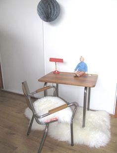 ensemble bureau chaise et peau de mouton - Chaise Eleven Patchwork Colors