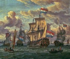 Dutch Master Paintings: Frigate Pieter And Paul