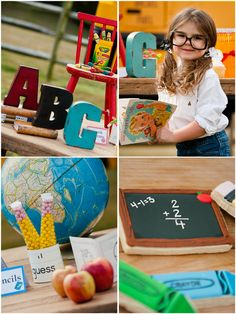 Back to School Party Ideas  + FREE Printables by Bird's Party