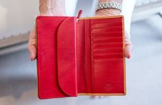 Vibrant red provides a beautiful interior for this Whitehouse Cox Clutch Purse. Countryside Fashion, British Countryside, Country Fashion, Fashion Over 40, British Style, Clutch Purse, Fashion Advice, London Fashion, Luxury Branding