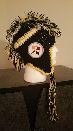 Pittsburgh Steelers Handmade Crochet Mohawk Hat by WCDesignsCrochet on Etsy