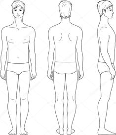 Illustration about Vector illustration of mens figure. Front, back, side views. Illustration of drawing, appearance, clothing - 31483543 Photography For Sale, Anatomy Reference, Male Figure, Side View, 3d Design, Illustration, Drawings, Men, Clothes