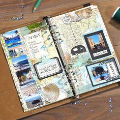 Memory Journal, Bullet Journal Art, Bullet Journal Ideas Pages, Photo Journal, Junk Journal, Travel Journal Scrapbook, Scrapbook Albums, Diy Scrapbook, Travel Journals