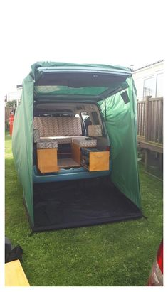 Minivan Camping, Berlingo Camper, Tailgate Tent, Kangoo Camper, Small Travel Trailers, Kombi Home, Mini Camper, Micro Campers, Camper Life
