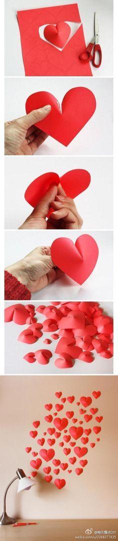 ideas con corazones para San Valentin