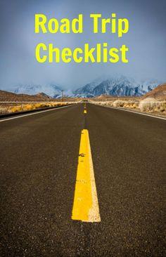 Road Trip Checklist                                                                                                                                                      More