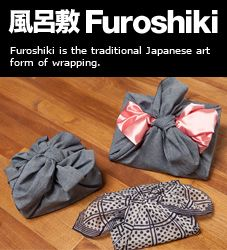 Furoshiki, the traditional Japanese art of  fabric wrapping. This is a great way to gift, you can use a scarf/ or a wrap for the wrapper.