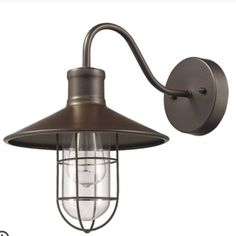 Chloe Lighting Charles Industrial-style 1 Light Rubbed Bronze Wall Sconce 11 inch Wide, Size: One size Industrial Style, Wall Lights, Light, Wall Sconce Lighting, Chloe Lighting, Barn Lighting, Candle Wall Sconces, Steel Lighting, Bronze Wall Sconce