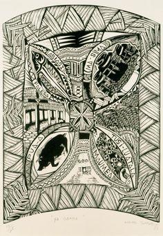 a Samoa matai - Museum of New Zealand Te Papa Tongarewa Polynesian Designs, Polynesian Art, African House, Nz Art, Hawaiian Art, Maori Art, Still Life Art, Art Lessons, Printmaking