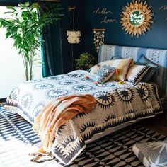 9 Fantastic Bohemian Bedroom Design Ideas You Have To See – Home Apartment Ideas Design Room, Wall Design, Bedroom Vintage, Modern Bedroom, Eclectic Bedrooms, Contemporary Bedroom, Cozy Small Bedrooms, Modern Bohemian Bedrooms, Eclectic Bedding