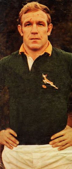 Hannes Marais (Voorry) - 1971 (Mclook rugby collection) Rugby League, Rugby Players, Rugby Images, David Livingstone, All Blacks Rugby, Rugby Men, Africa, Vintage Sport, Real Men