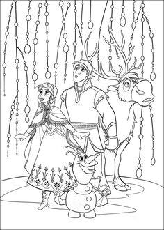 Dibujos para Colorear. Dibujos para Pintar. Dibujos para imprimir y colorear online. Frozen 16