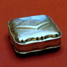Antique Dutch Snuff Box with Hallmarks c.1885 from Alley Cat Lane Antiques and Collectibles Exclusively on Ruby Lane