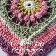 Flower Fandango Flavor | Free Crochet Along | Creative Crochet Workshop