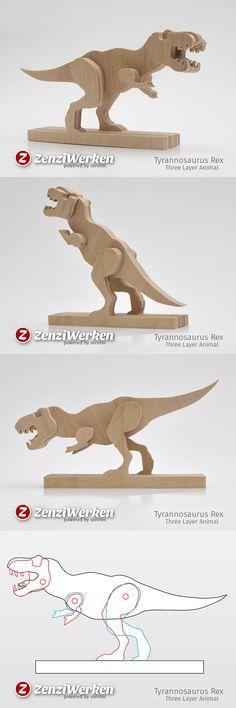 T-Rex, DIY, simplified model, baltic birch plywood