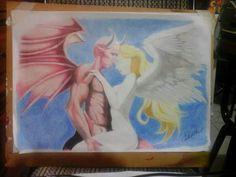 Angel y demonio. Lapices