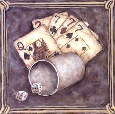 Poker - sevens fine art print by judy kaufman at fulcrumgall Casino Theme Parties, Party Themes, Vintage Prints, Vintage Photos, Wall Prints, Fine Art Prints, Event Photo Booth, Casino Cakes, Card Games
