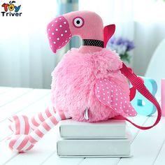 45cm Simulation Pink Flamingos Plush Flamingo Toy Bird Knitting Dolls Baby Kids Girl Student Kawaii Birthday Gift Drop Shipping #Affiliate