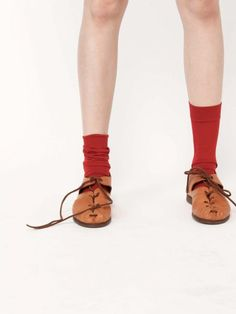 red socks and brown shoes= perf.