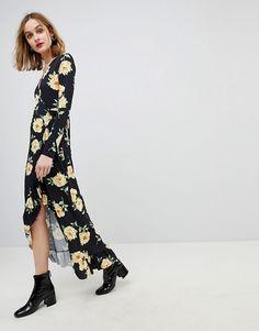 ASOS | ASOS Maxi Wrap Dress In Large Bloom Print